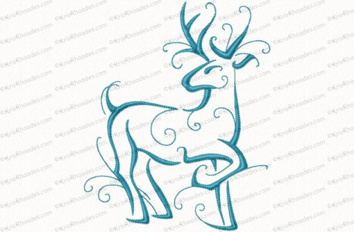 christmas reindeer outline 10 6x10