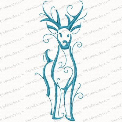 christmas reindeer outline 2 5x7