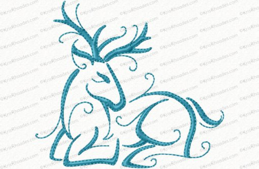 christmas reindeer outline 4 4x4