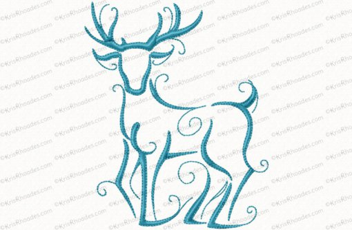 christmas reindeer outline 7 5x7