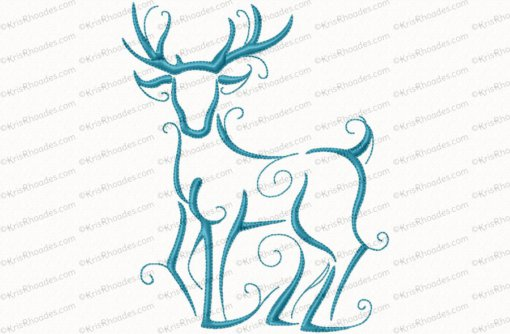 christmas reindeer outline 7 6x10