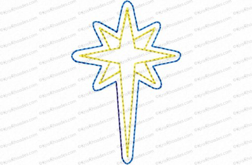 nativity star 3 inch feltie