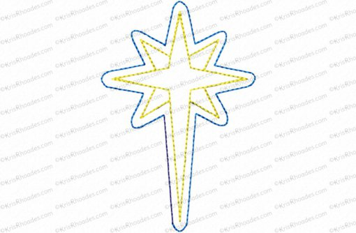 nativity star 4 inch feltie