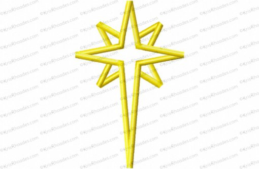 nativity star 6 inch