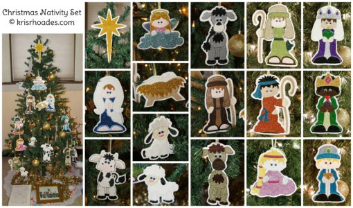 Nativity Ornaments collage