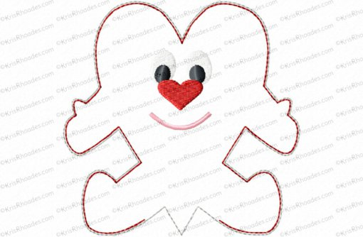 heart stuffie with arms and legs 4x4