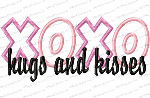 hugs and kisses 5x7