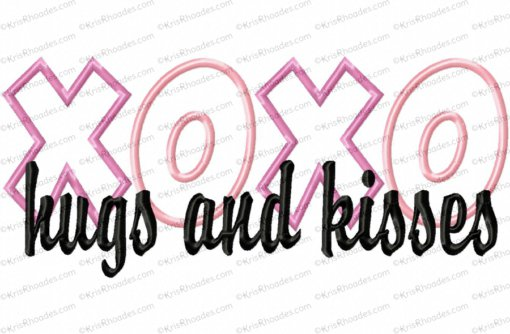 hugs and kisses 8x12