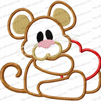 mouse with heart 5x5