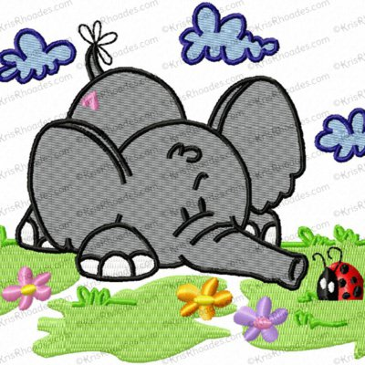 spring elephant 5x4 filled