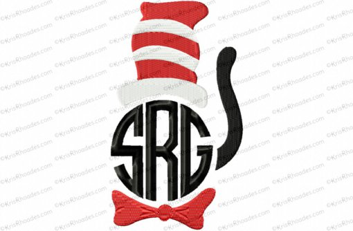 Cat in the Hat Inspired Monogram Topper