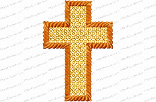 3 inch cross lace fill with rope outline