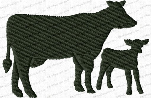 cow and calf filled 3x2
