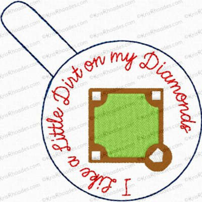 I Like a Little Dirt on my Diamonds Snap Tab Key Fob Embroidery Design