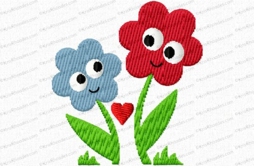flowers cartoon 2x2