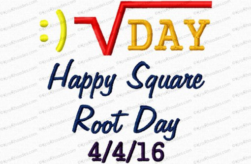 happy square root day 4x4