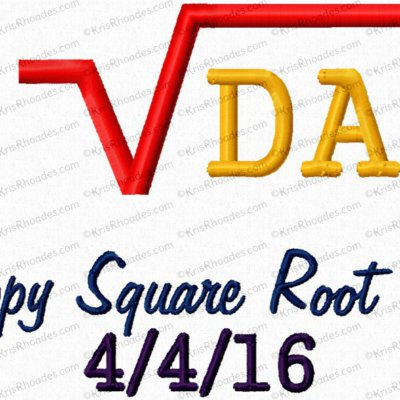 happy square root day 5x7