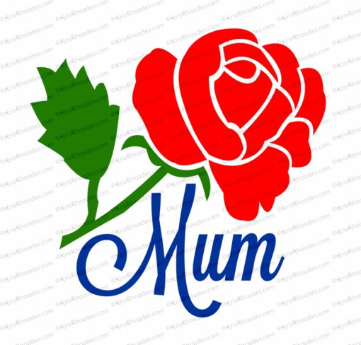SVG mum with rose