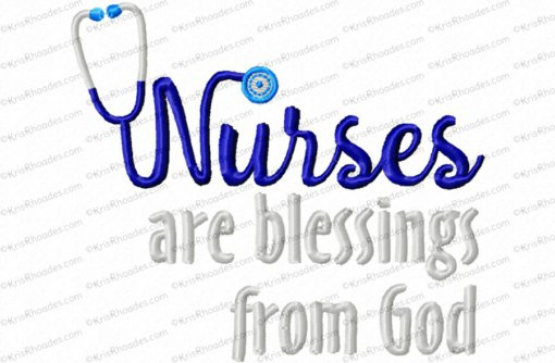 nurses are blessings from God 4x4