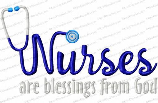 nurses are blessings from God 6x10