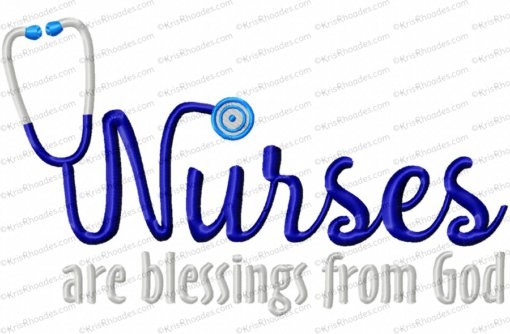 nurses are blessings from God 8x12