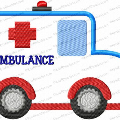 Ambulance Applique Embroidery Design
