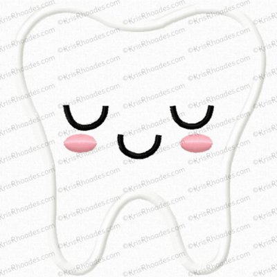 Happy Tooth Applique Embroidery Design