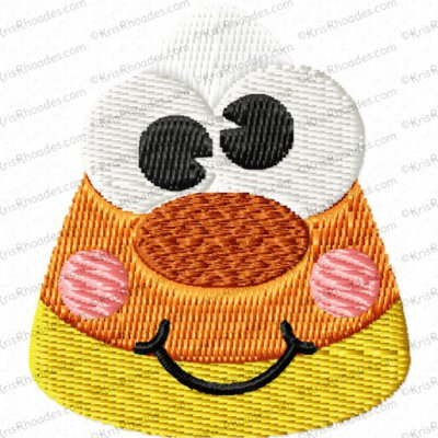 Candy Corn Face Mini Filled Embroidery Design
