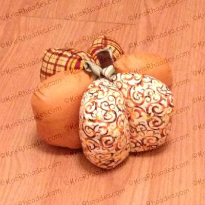 3D Pumpkin Stuffie Embroidery Design