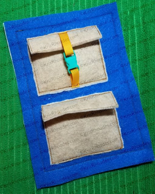 Quiet Book Page - Boxes 5x7