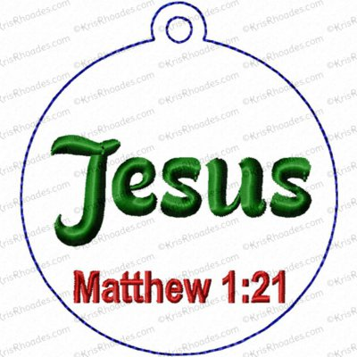 Jesus Ornament Embroidery Design