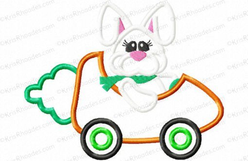 rhoades_bunny driving carrot car 5x7
