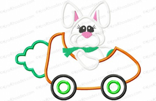 rhoades_bunny driving carrot car 8x12