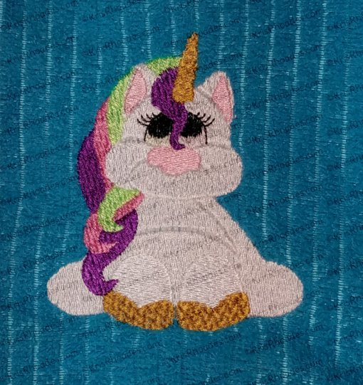 Unicorn Filled Embroidery Design
