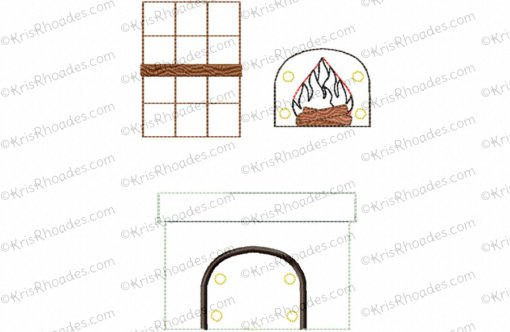 Quiet Book Dollhouse - 8x8 Living Room Embroidery Design
