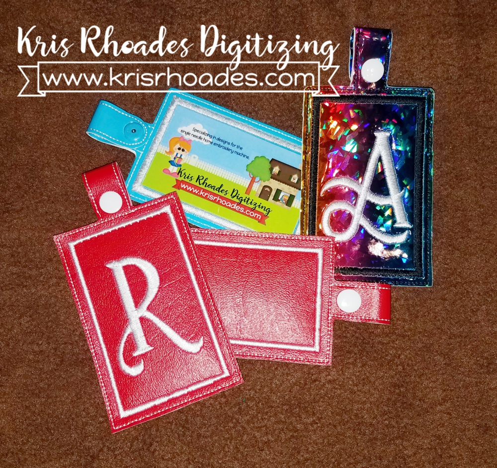Ith Luggage Tag Embroidery Design Kris Rhoades