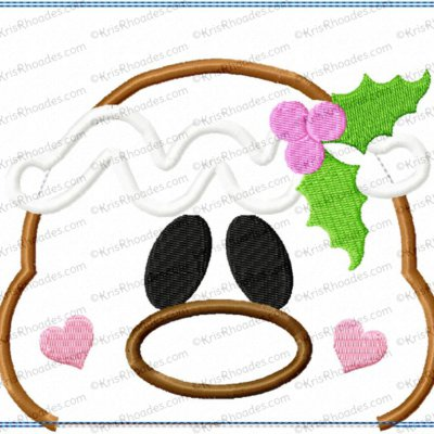 Ginger Face Mug Rug Applique Embroidery Design