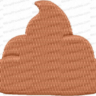 Mini Pile of Poop or Soft Serve Ice Cream Embroidery Design