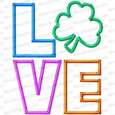 rhoades_love stacked with shamrock 5x7