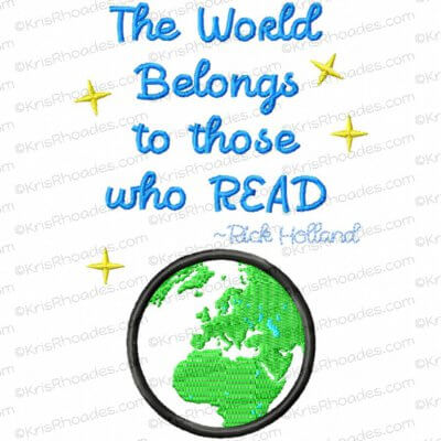 The World Belongs to Those Who Read - Europe Applique Embroidery Design