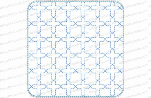 rhoades_coaster - cross quilt stipple