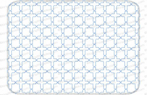 rhoades_mug rug - cross quilt stipple