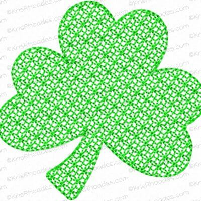 3 Leaf Shamrock for Mylar Applique Embroidery Design