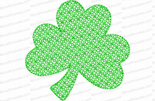 rhoades_mylar 3 inch 3 leaf shamrock bean outline lace