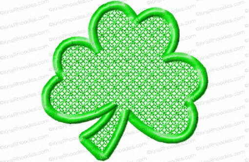 rhoades_mylar 3 inch 3 leaf shamrock satin outline
