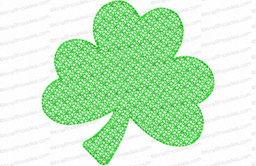 rhoades_mylar 4 inch 3 leaf shamrock bean outline lace