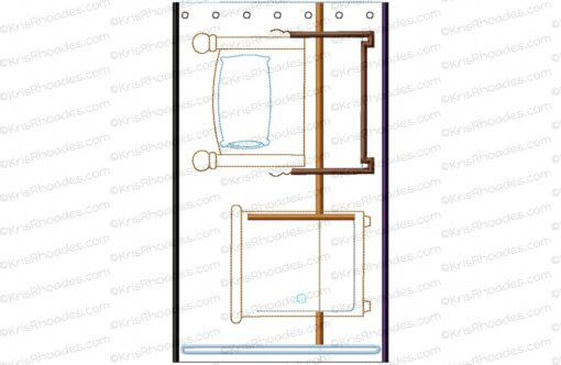 Quiet Book Dollhouse - 6x10 BedRoom A Embroidery Design