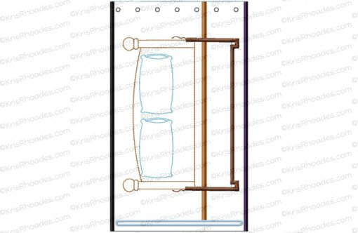 Quiet Book Dollhouse - 6x10 Bedroom C Embroidery Design