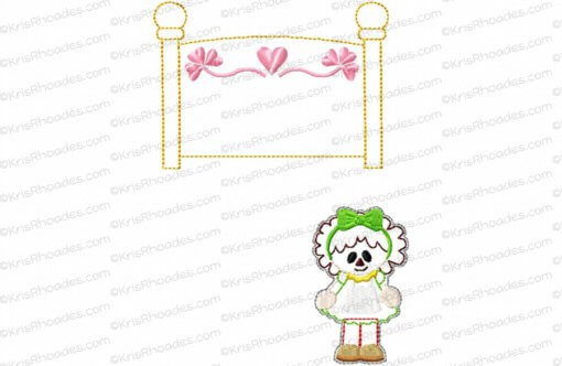 Quiet Book Dollhouse - 6x10 BedRoom B Embroidery Design