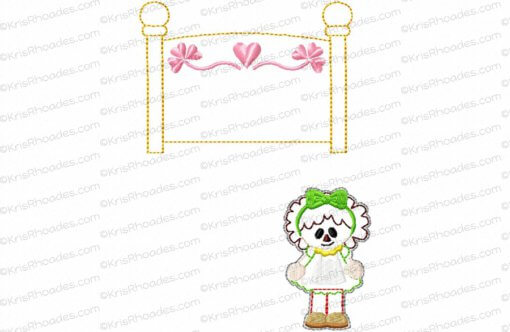 Quiet Book Dollhouse - 8x8 Bedroom B Embroidery Design